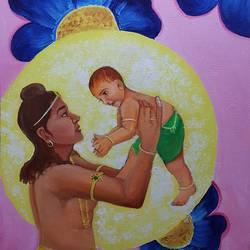 Buddha's Son Rahul  size - 24x36In - 24x36