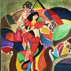 Mahisasur mardini size - 11x14In - 11x14