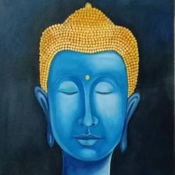 Buddha  size - 22.5x34In - 22.5x34