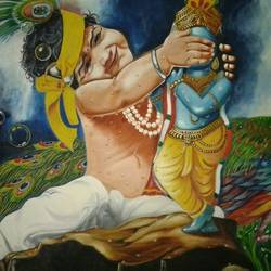painting of goddess krishna size - 25x35  In - 25x35