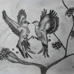 COALESCED BIRDS size - 15x11In - 15x11