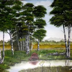 Tree Painting size - 18.5x13.5In - 18.5x13.5