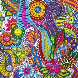 Zentangle Art 3 size - 12x16In - 12x16