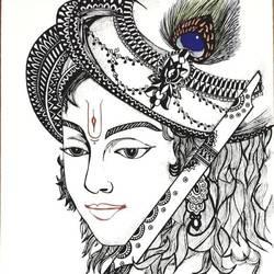 Lord Krishna size - 8x11.5In - 8x11.5