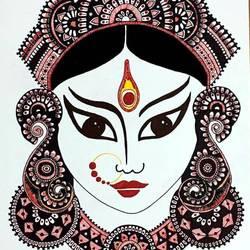 Maa Durga portrait size - 8x11.5In - 8x11.5