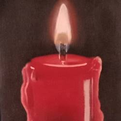 Candle painting size - 5.5x16.5In - 5.5x16.5