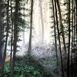 INTO THE WOODS size - 24x24In - 24x24