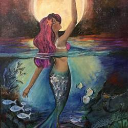 MERMAID DREAM size - 20x30In - 20x30