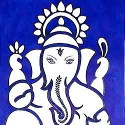 Sri Ganesha size - 8.27x11.69In - 8.27x11.69