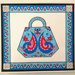 Purse with symmetrical design size - 12x12In - 12x12