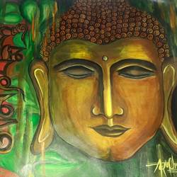 Painting of Buddha size - 11x14.5In - 11x14.5