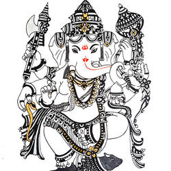 Ganpati -Grace and Poise size - 11.69x16.53In - 11.69x16.53