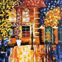 Palette knife painting  size - 14x18In - 14x18