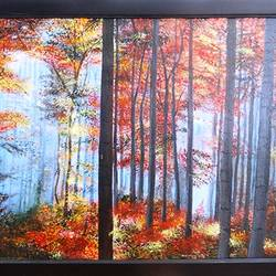 Yellow Red Foliage Autumn Season size - 19.5x15.5In - 19.5x15.5
