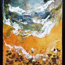 SEA SHORE ABSTRACT EPOXY size - 11x16In - 11x16