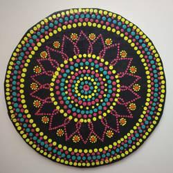 Dot Mandala Chakra size - 10x10In - 10x10