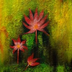 Mystery of Nature; Orange Lotus size - 16x20In - 16x20