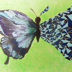 Abstract Cubic Butterfly  size - 12x17In - 12x17