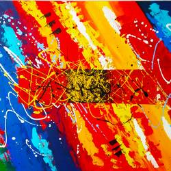 Colour splash size - 68x41In - 68x41