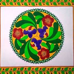 Symmetrical design in circle size - 13x11In - 13x11