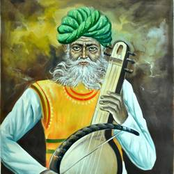 Indian Old Man  size - 19x25In - 19x25