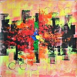 Abstrect painting size - 24x24In - 24x24