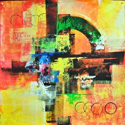 Abstract Painting size - 25x24In - 25x24