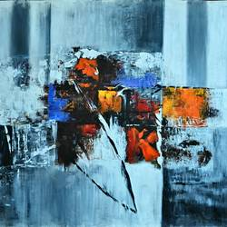 Abstract Painting size - 36x36In - 36x36