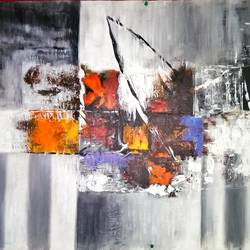 Abstract Painting size - 38x26In - 38x26