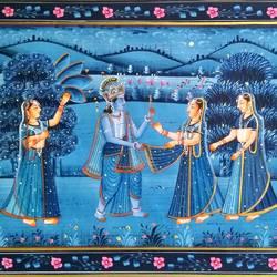 Radha Krishna size - 20x15In - 20x15