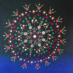Dot painting  size - 14x18In - 14x18