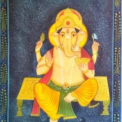 Lord Ganesha size - 18x27In - 18x27