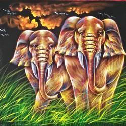 Elephant size - 27x20In - 27x20