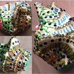 Lakshmi Sankh size - 4x4In - 4x4