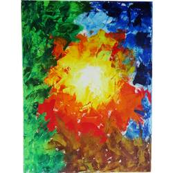 Colorful Modern Abstract Art size - 18x23.5In - 18x23.5