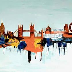 BEAUTY OF LONDON SKY LINE size - 42x30In - 42x30