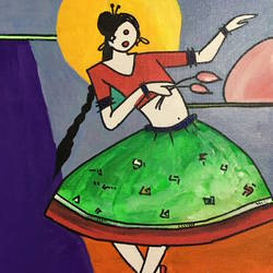 Dancing lady size - 10x12In - 10x12