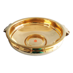 Decorative Brass Uruli Bowl Pot for Floating Flowers size - 14.5x4In - 14.5x4