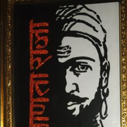Shivaji maharaj painting size - 10x14In - 10x14