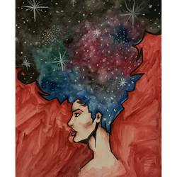 Girl and the Galaxy size - 11.69x16.53In - 11.69x16.53