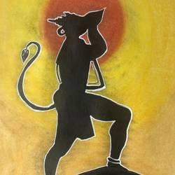 Pawanputra Hanuman size - 11.7x16.5In - 11.7x16.5