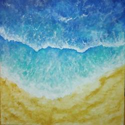 Blue green waves size - 16x20In - 16x20