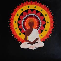 Serene Budhha  size - 15x14.5In - 15x14.5