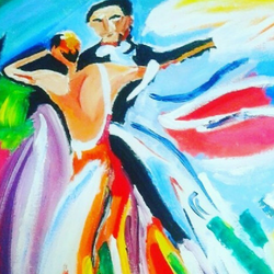 Couple romantic dance size - 22x21In - 22x21
