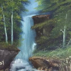 The Waterfall size - 11.7x16.5In - 11.7x16.5