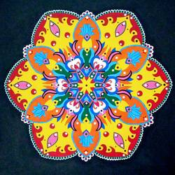 Mandala Art size - 22x22In - 22x22