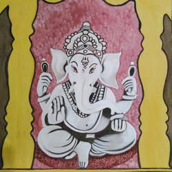 Lord Ganesha size - 11.69x16.53In - 11.69x16.53