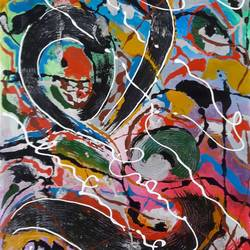Abstract Paining size - 15x24In - 15x24