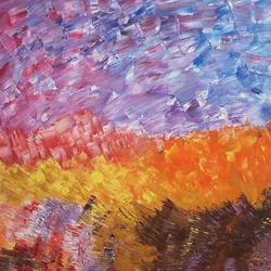 Sky full of colours size - 24x24In - 24x24
