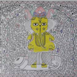 Lord Ganesh size - 20x14In - 20x14